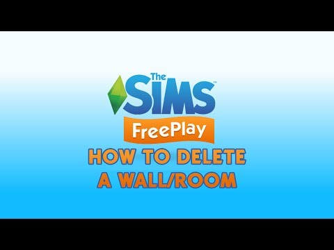 How to Delete a Wall / Room in The Sims FreePlay