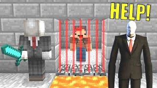 100% IMPOSSIBLE TO ESCAPE SLENDERMAN PRISON IN MINECRAFT TROLL + ROLEPLAY!