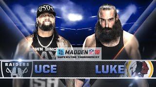 Madden 18 Tournament Rd. 1 - LUKE HARPER vs JIMMY USO - Gamer Gauntlet