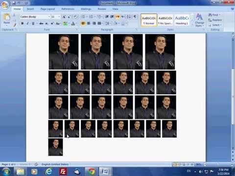 How To Create Passport/Multiple size photo Like Photoshop (7.0/CC/Cs6/Cs5) in Microsoft office Word