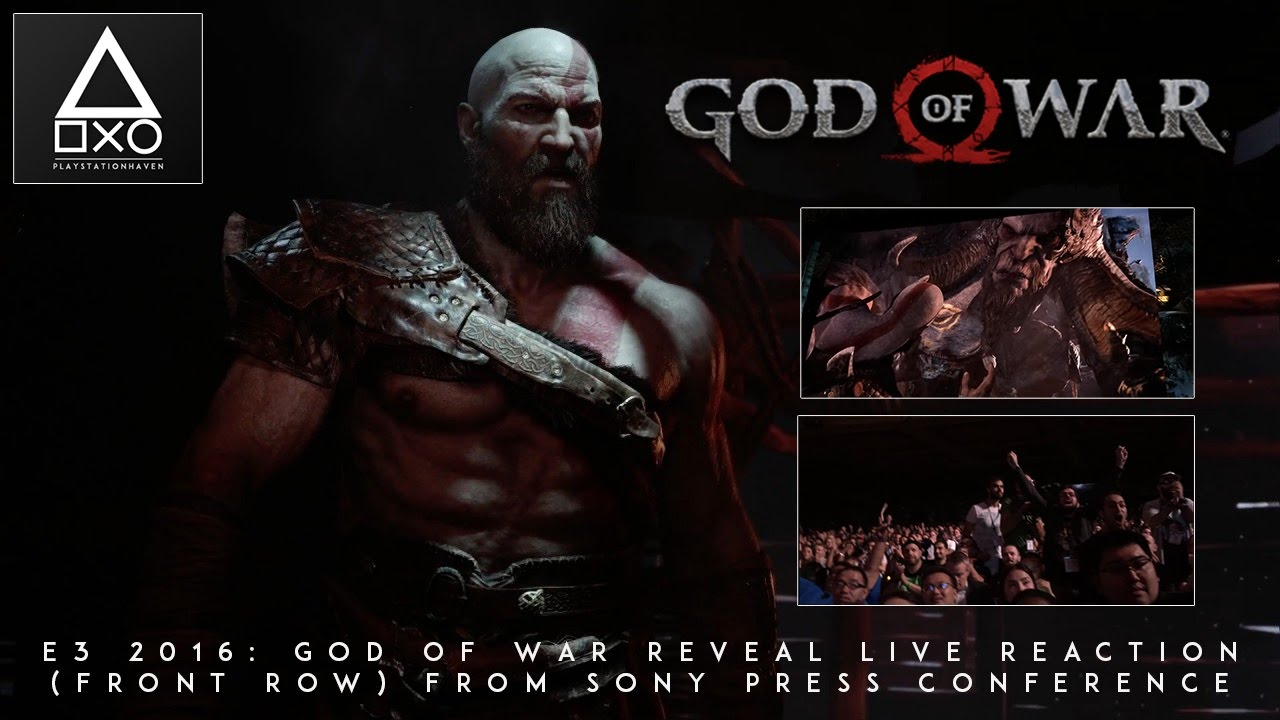 E3 2016: God of War Reveal Live Reaction (Front Row) From Sony Press Conference