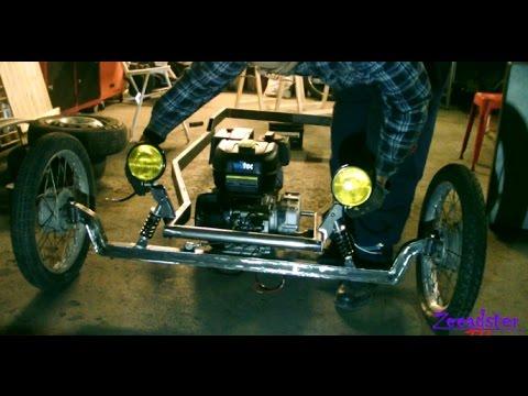 Homemade Hot Rod Kart Pt 7 front suspension
