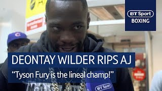 """Deontay Wilder drops bombs on Anthony Joshua 