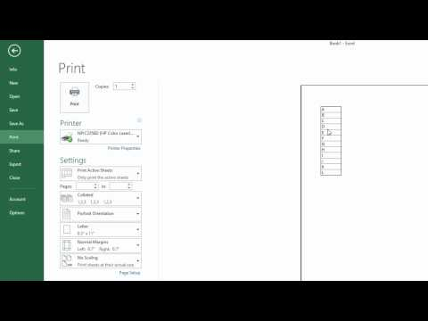 How to print gridlines with Excel 2013