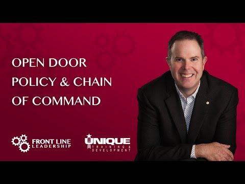 Open Door Policy & Chain Of Command