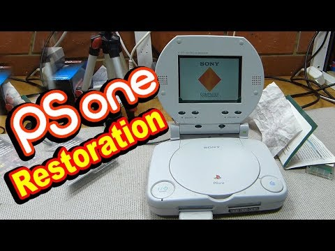 PS One testing, disassembly and restoration