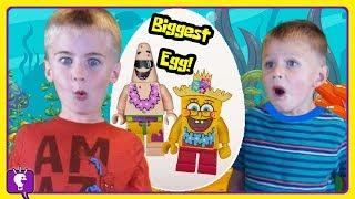 Giant Spongebob Lego Egg! Vintage Lego Bricks Play And Review By Hobbykidstv