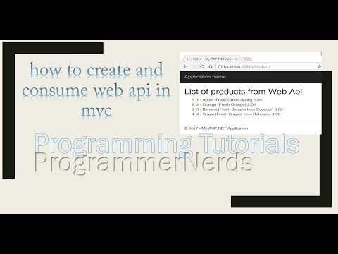 Create Web Api and Consume it with mvc application