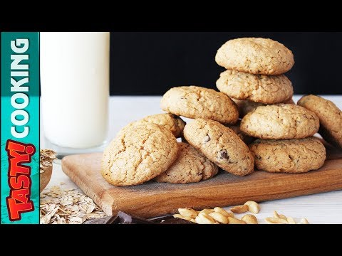 Oatmeal Peanuts Chocolate Cookies Recipe 🍪 Tasty Cooking