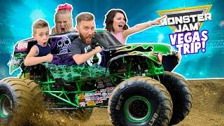 MONSTER JAM in REAL LIFE! (Kids ride Real Monster Trucks) KIDCITY