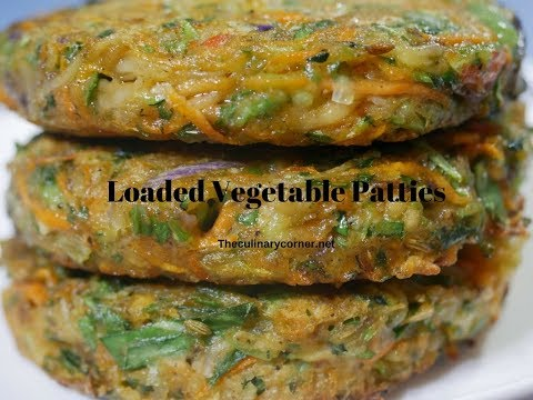 Loaded Vegetable  Patties-