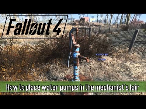 Fallout 4 how to place water pumps in the mechanist's lair
