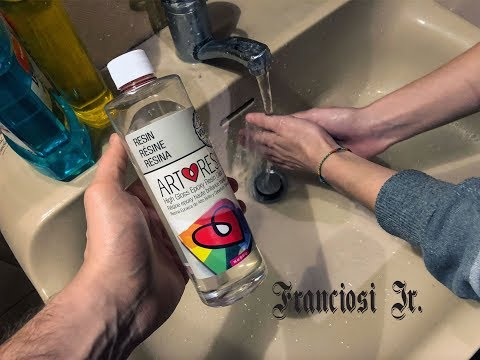 ARTRESIN - HOW TO CLEAN AND REMOVE EPOXY RESIN FROM YOUR HANDS