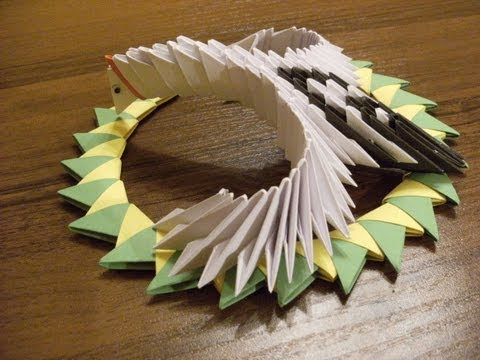 origami 3d - flying crane - how to make