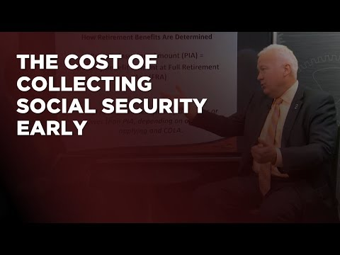 The Cost of Collecting Social Security Early