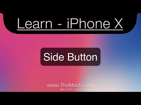 iPhone X Tutorial - The Side Button