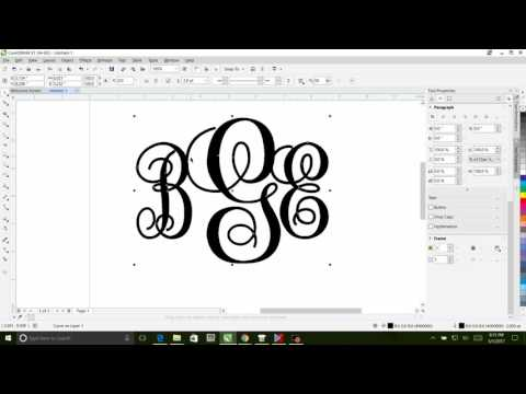 How to design a Monogram is Corel Draw