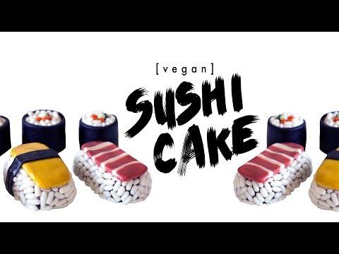 how to make sushi cakes | vegan