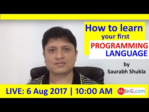 How to learn your first programming language? (in Hindi)   LIVE