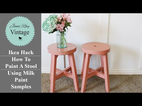 IKEA HACK | How To Paint A Stool Using Milk Paint Samples