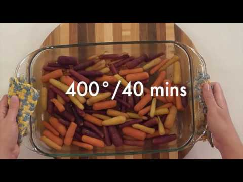 How to Make Roasted Rainbow Carrots - The Produce Moms