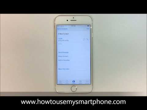 How to Delete a Contact - iPhone 6