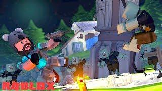 ALIEN VS ZOMBIE ATTACK!!   ROBLOX Zombie Rush