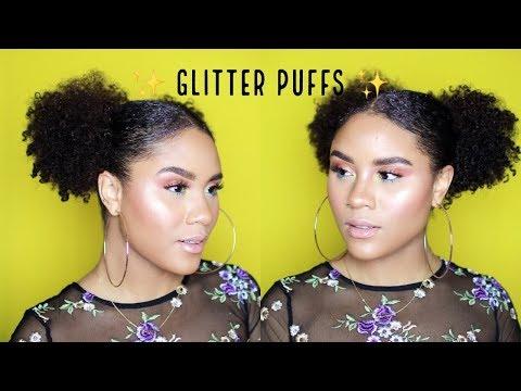 FESTIVAL HAIR TUTORIAL | GLITTER PUFFS | CURLSFOTHEGIRLS