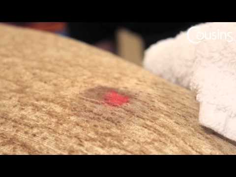 Stain Removal from Upholstered Furniture - Nail Varnish