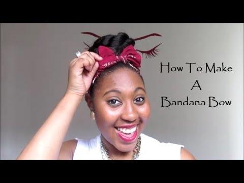 How To Make A Bandana Bow