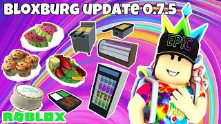 ROBLOX   Bloxburg New Update 0.7.5   Mukbang & Bloopers!