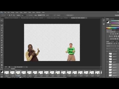 Photoshop Tutorial - Combine gifs in photoshop cs6