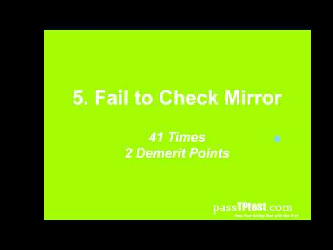 Top 25 Mistakes Singapore Driving Test
