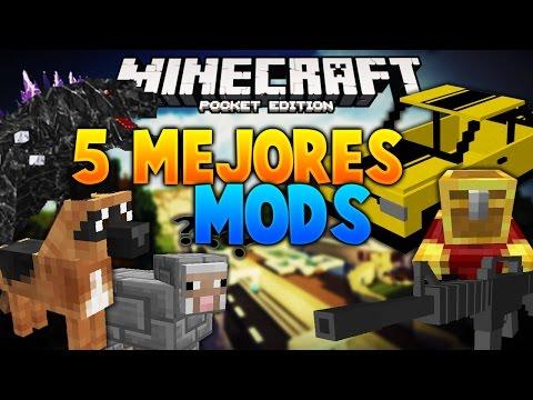Los 5 Mejores Mods sin textura para Minecraft PE 1.0.2   Mods Para tu Survival #2