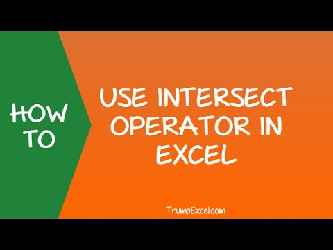 How to Use Intersect Operator in Excel