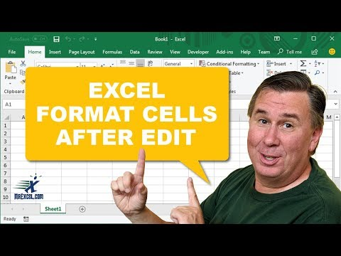 Learn Excel - Format Cells after Edit: Podcast #1392