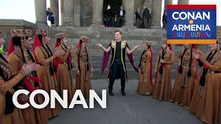 Conan Dances At The Garni Temple  - CONAN on TBS