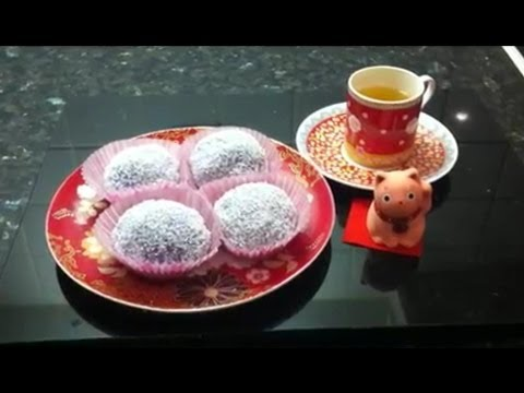 How to make Chinese Sweet Coconut Rice Ball (糯米糍)