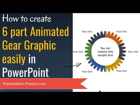 PowerPoint Graphics: 6 Part Animated Gear (Easy Tutorial)