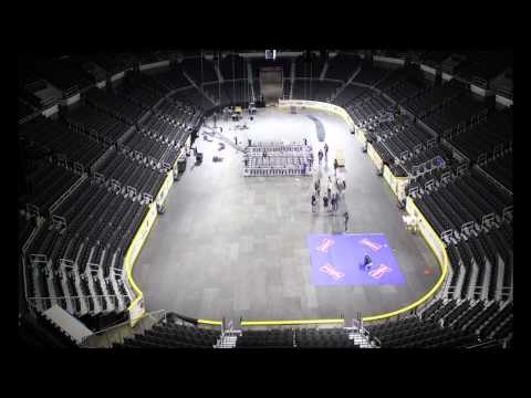 Boxing Ring Set up at Dunkin' Donuts Center Timelapse Dec 15 2014