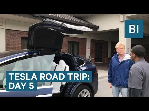Visiting Warren Buffett's house on DAY 5 OF THE TESLA ROAD TRIP