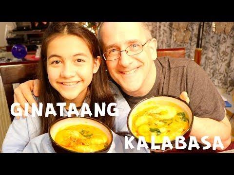 Cooking delicious Filipino Food | Ginataang Kalabasa with Shrimp and Bagoong