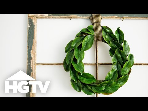 DIY Faux Magnolia Wreath - HGTV Happy