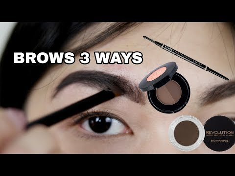 EYEBROW ROUTINE | NATURAL AND INSTAGRAM BROWS | PENCIL, POWDER, POMADE