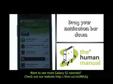 Downloading Apps | Samsung Galaxy S2 | The Human Manual