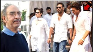 Emotional Shahrukh Khan ARRIVES At Ajay Devgan's Father Veeru Devgan's Last Rites