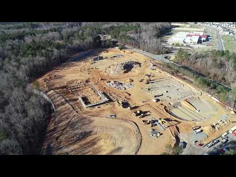 Chatham Grove Elementary School Drone Flyover 12-18-18