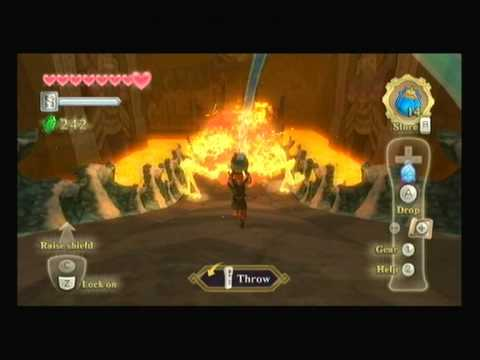 Zelda Skyward Sword Boss: Scaldera