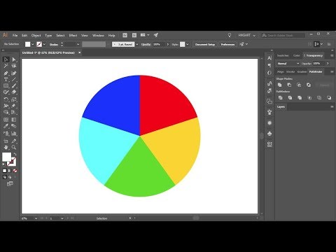 How to Divide a Circle into Equal Parts in Adobe Illustrator CC 2018