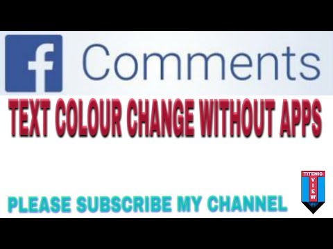 HOW TO CHANGE THE FB STATUS AND COMMENT TEXT COLOUR WITHOUT APPS